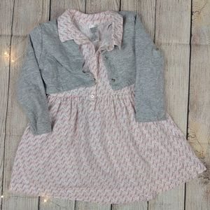 Size 18m three piece toddler girls outfit/dress